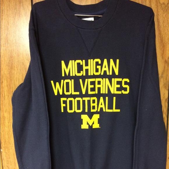 buy popular b3f86 54cf0 Michigan Wolverines Football Men's M Sweatshirt
